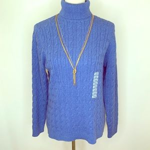 Charter Club Cable Knit Turtleneck Sweater Size L
